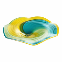 Moe's Home Furniture Blue Curl Wall Plate-m2