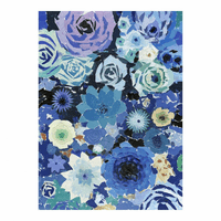 Moe's Home Furniture Blue Flowers Wall Decor