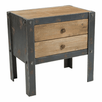 Moe's Home Furniture Bolt Sidetable W/2 Drawers Natural
