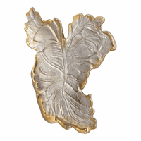 Moe's Home Furniture Champagne Leaf Tray