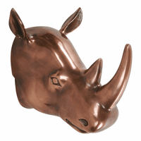 Moe's Home Furniture Clara Rhino Wall Decor Copper