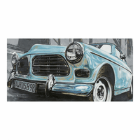 Moe's Home Furniture Classic Euro Car Blue Wall Decor