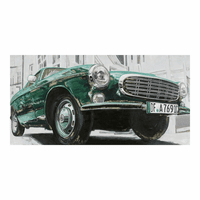 Moe's Home Furniture Classic Euro Car Green Wall Decor