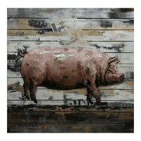Moe's Home Furniture Country Pig Wall Decor