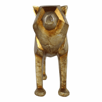 Moe's Home Furniture Cubist Wolf Gold