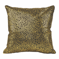 Moe's Home Furniture Daisy Pillow Black And Gold