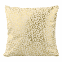 Moe's Home Furniture Daisy Pillow White And Gold