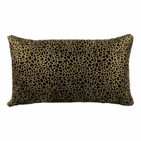 Moe's Home Furniture Daisy Rectangular Pillow Black And Gold