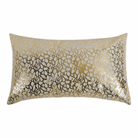 Moe's Home Furniture Daisy Rectangular Pillow White And Gold