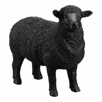 Moe's Home Furniture Dolly Sheep Statue Black