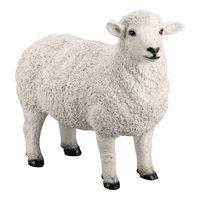 Moe's Home Furniture Dolly Sheep Statue White