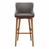 Moe's Home Furniture Doyle Barstool Brown