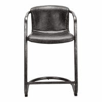 Moe's Home Furniture Freeman Counter Stool Antique Black-m2