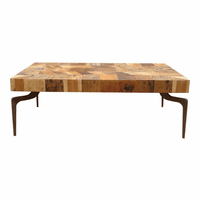 Moe's Home Furniture Gajel Coffee Table With Metal Legs