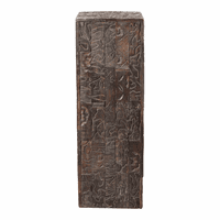 Moe's Home Furniture Gerardo Carved Wood Pedestal