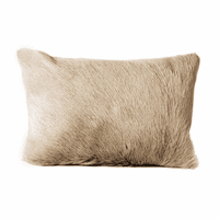 Moe's Home Furniture Goat Fur Bolster Light Grey