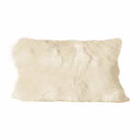 Moe's Home Furniture Goat Fur Bolster Natural