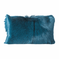 Moe's Home Furniture Goat Fur Bolster Teal