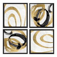 Moe's Home Furniture Gold Swirls Wall Decor Set Of 4