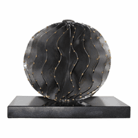 Moe's Home Furniture Iron Orb Black Marble