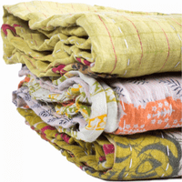 Moe's Home Furniture Kantha Quilts Assorted Set Of 3