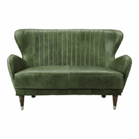 Moe's Home Furniture Keaton Leather Loveseat Emerald