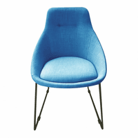 Moe's Home Furniture Krissy Dining Chair Blue-m2