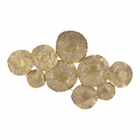 Moe's Home Furniture Large Circles Wall Decor Gold