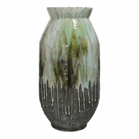 Moe's Home Furniture Lindemann Ceramic Vase Green