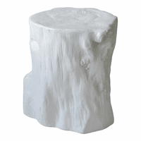 Moe's Home Furniture Log Stool Antique White
