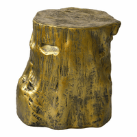 Moe's Home Furniture Log Stool Gold
