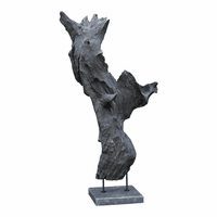 Moe's Home Furniture May Teak Sculpture Weathered Grey