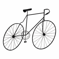 Moe's Home Furniture Mcmillan Bicycle Wall Art Black