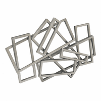 Moe's Home Furniture Metal Rectangles Wall Decor