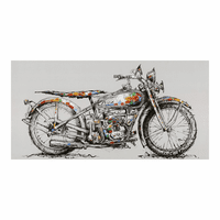 Moe's Home Furniture Motorbike Wall Decor