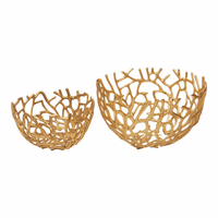 Moe's Home Furniture Nest Bowls Gold Set Of 2