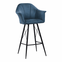 Moe's Home Furniture Olivier Barstool Blue