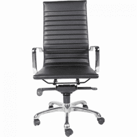 Moe's Home Furniture Omega Office Chair High Back Black-m2