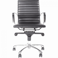 Moe's Home Furniture Omega Office Chair Low Back Black-m2