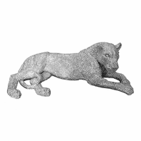 Moe's Home Furniture Panthera Statue Small Silver