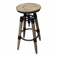 Moe's Home Furniture Quad Pod Adjustable Stool Natural
