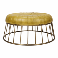 Moe's Home Furniture Radcliffe Leather Ottoman Green