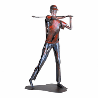 Moe's Home Furniture Red Golfer Statue