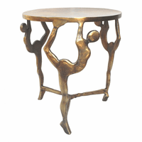 Moe's Home Furniture Sentinel Accent Table Brass