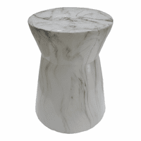 Moe's Home Furniture Shandi Stool White Marble