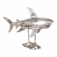 Moe's Home Furniture Shark Sculpture Antique Nickel