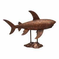 Moe's Home Furniture Shark Sculpture Antiqued Copper