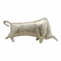 Moe's Home Furniture Silver Bull Sculpture