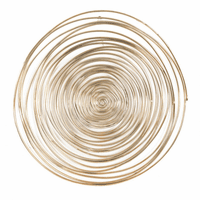 Moe's Home Furniture Spirals Wall Art Gold