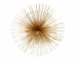 Moe's Home Furniture Starburst Wall Decor Gold